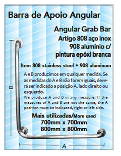barra de apoio angular
